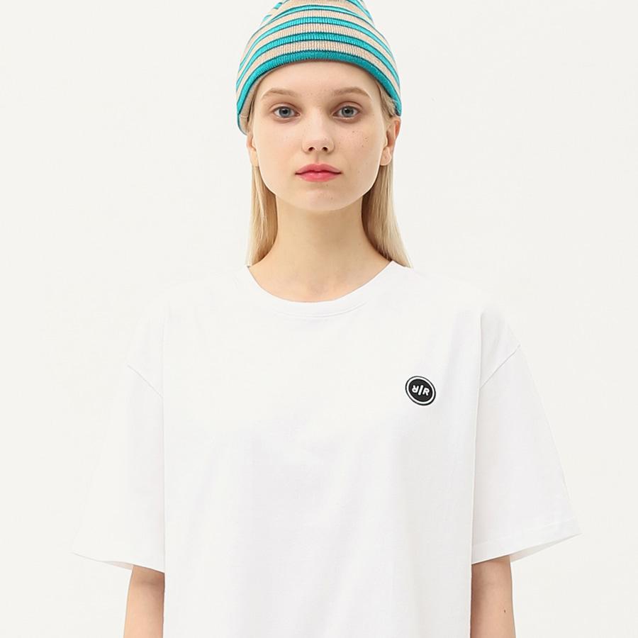 Logo patch basic T-shirts white