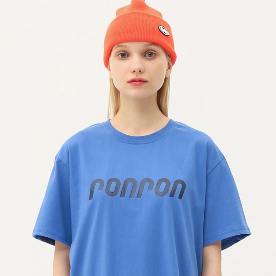 RONRON logo regular fit T-shirts blue