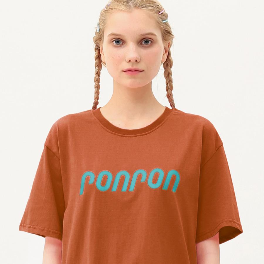 RONRON logo regular fit T-shirts brown