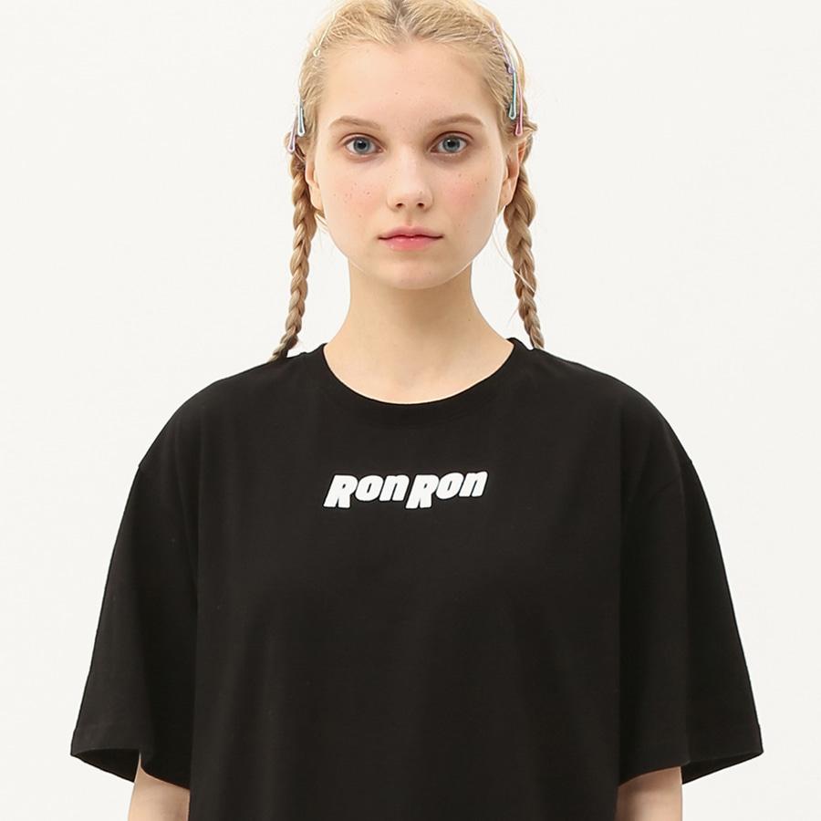 Nothing back printing regular T-shirts black