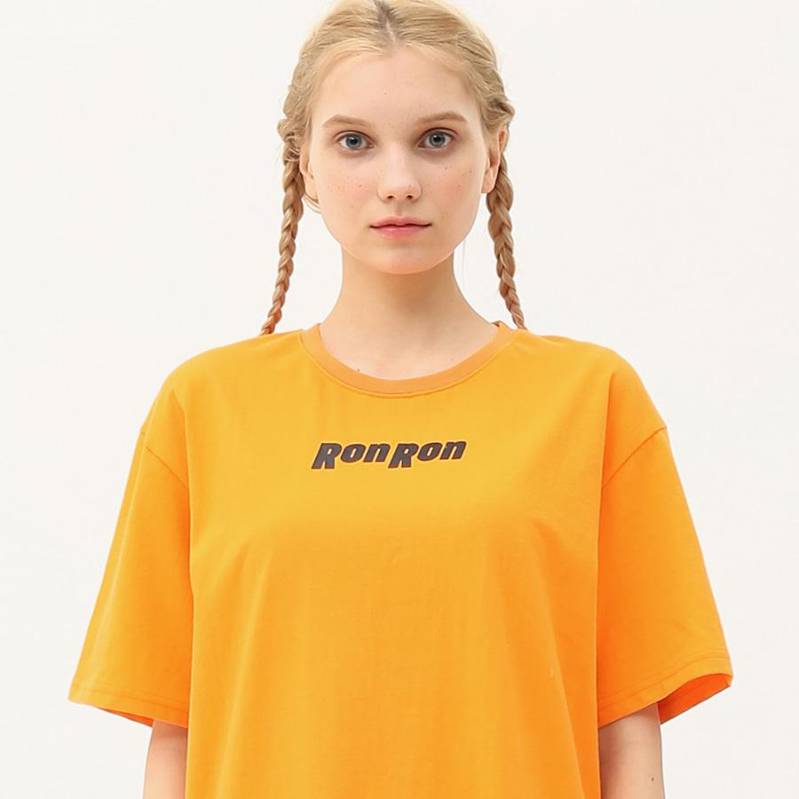 Nothing back printing regular T-shirts orange