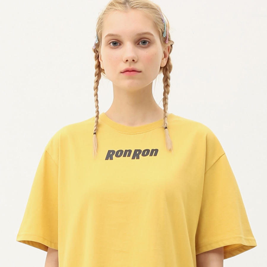Nothing back printing regular T-shirts mustard