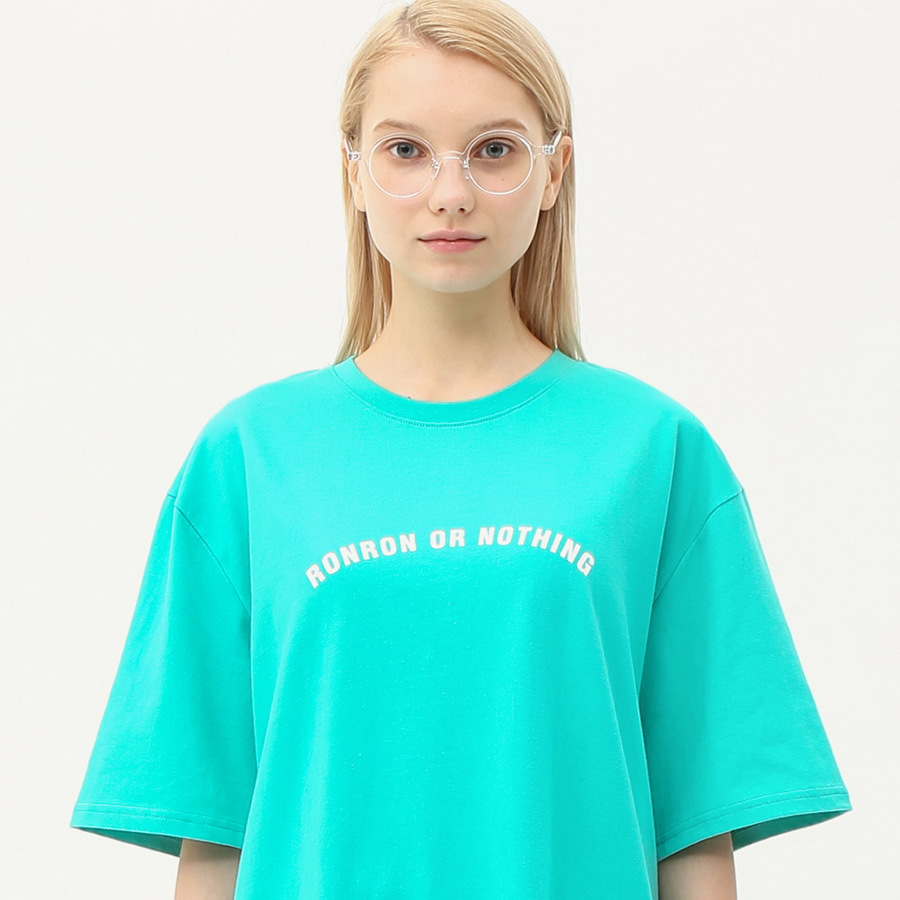 Round lettering over fit T-shirts mint