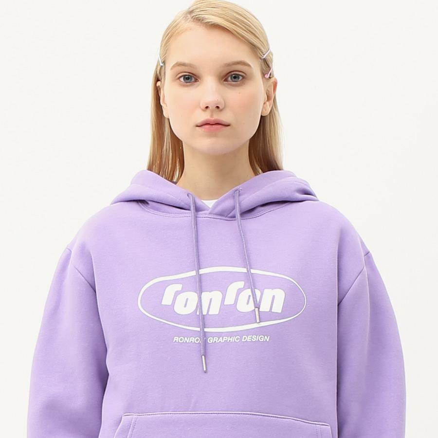 Circle logo hood T-shirts light purple