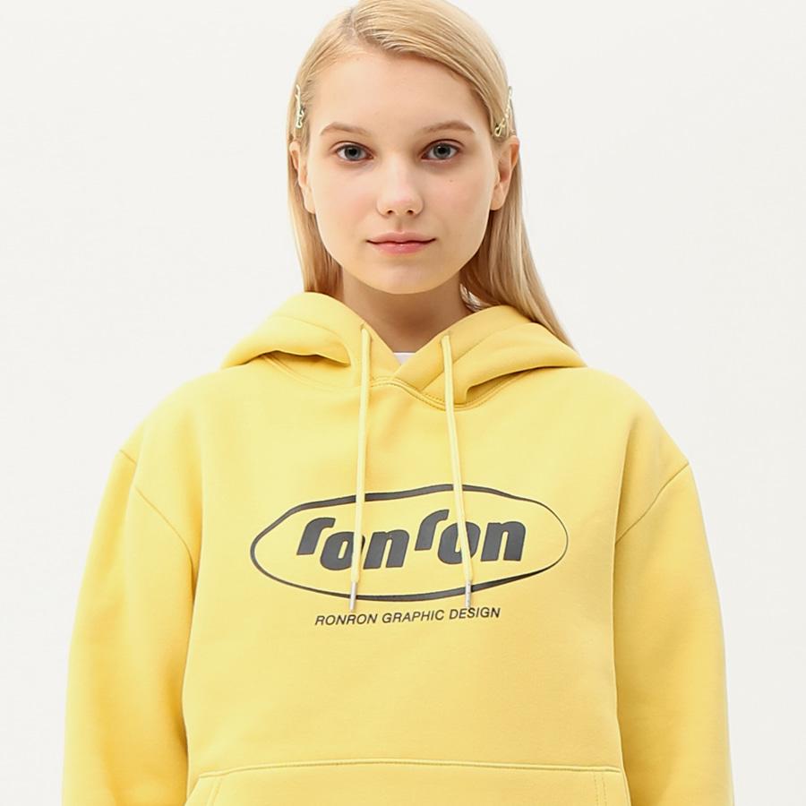 Circle logo hood T-shirts light yellow