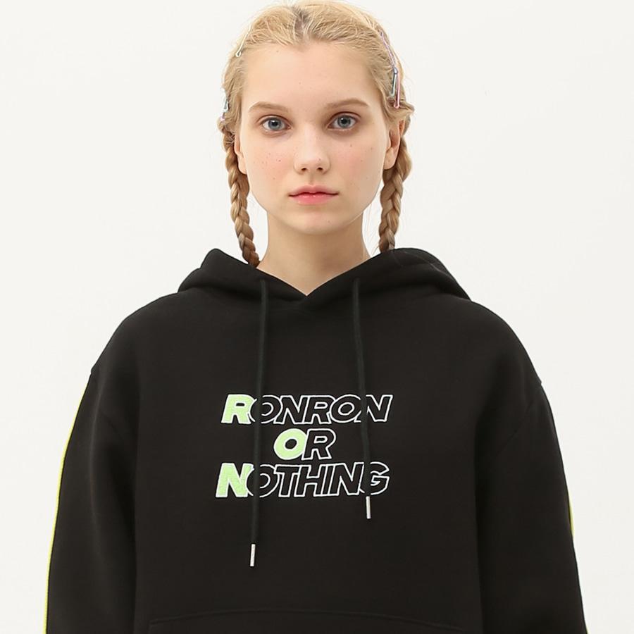 Color line hood T-shirts black