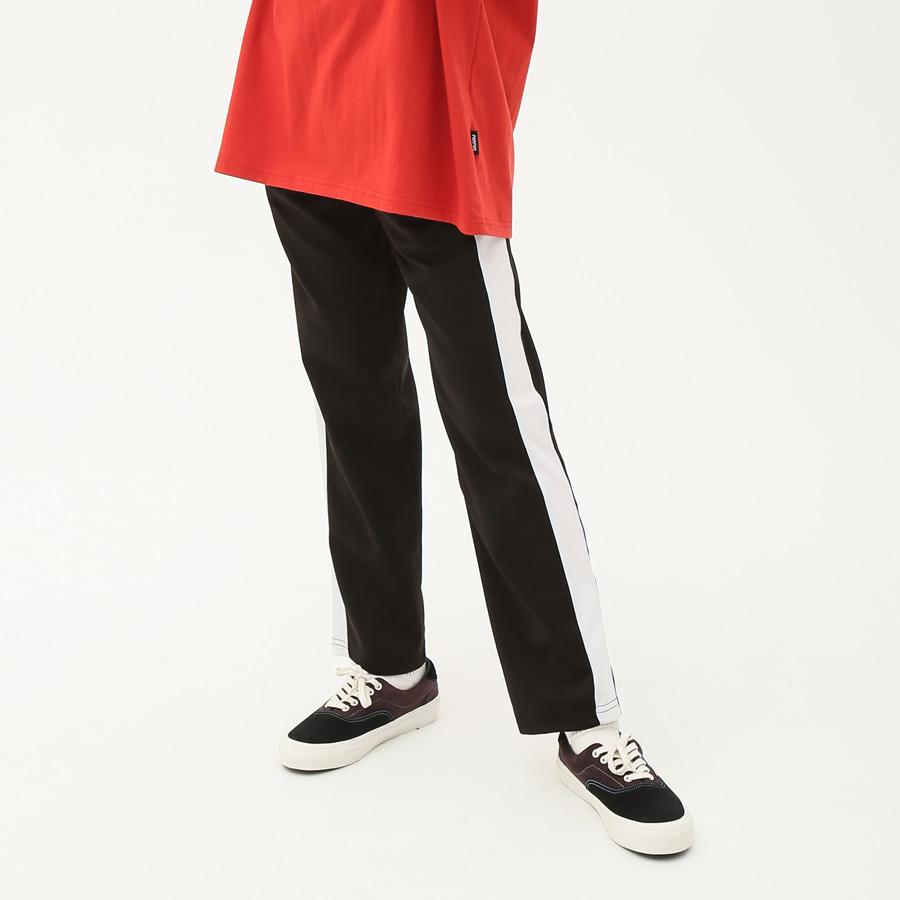 Patch track pants black