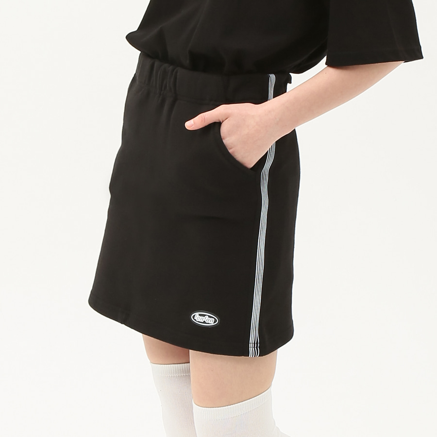[단독할인]banding track sweat skirt