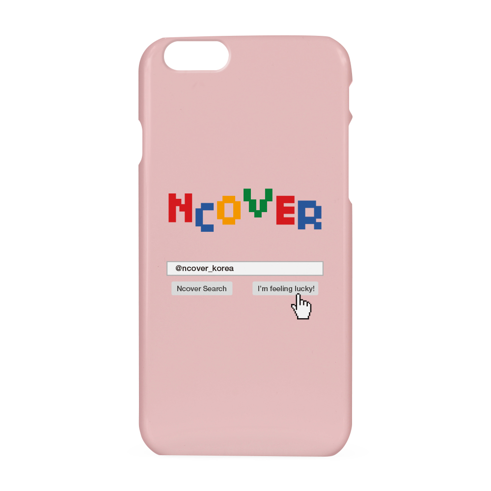 Color logo search case-pink