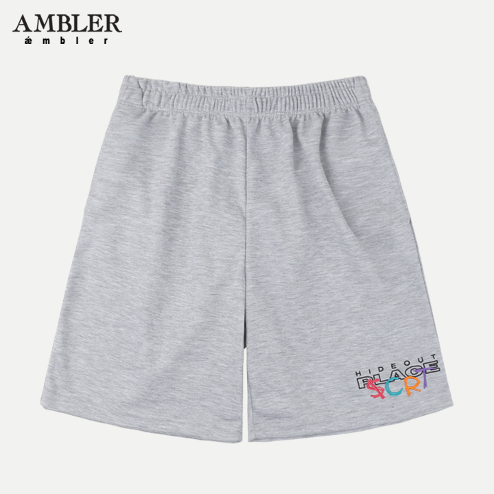 [단독할인][엠블러]AMBLER 신상 트레이닝 5부 반바지 ASP201-멜란지