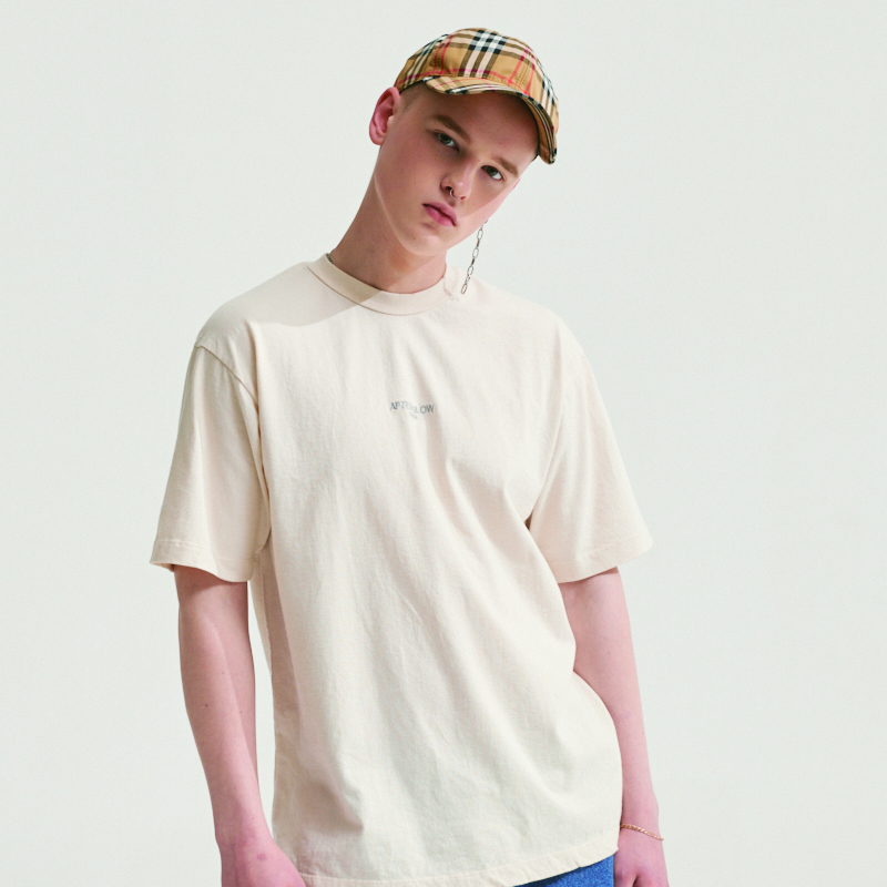 AFTER GLOW LABEL T-SHIRTS SOFT BEIGE