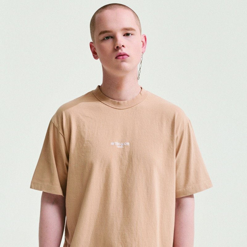 AFTER GLOW LABEL T-SHIRTS BEIGE