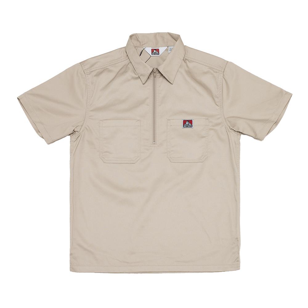 화이트라벨 하프 집업 셔츠