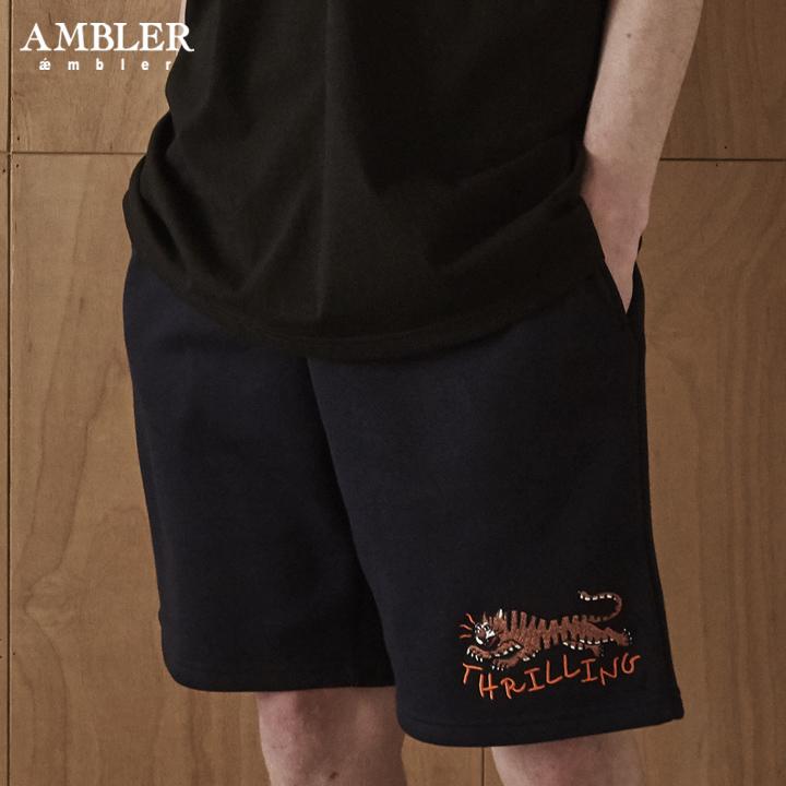 [엠블러]AMBLER 신상 트레이닝 5부 반바지 ASP202-네이비