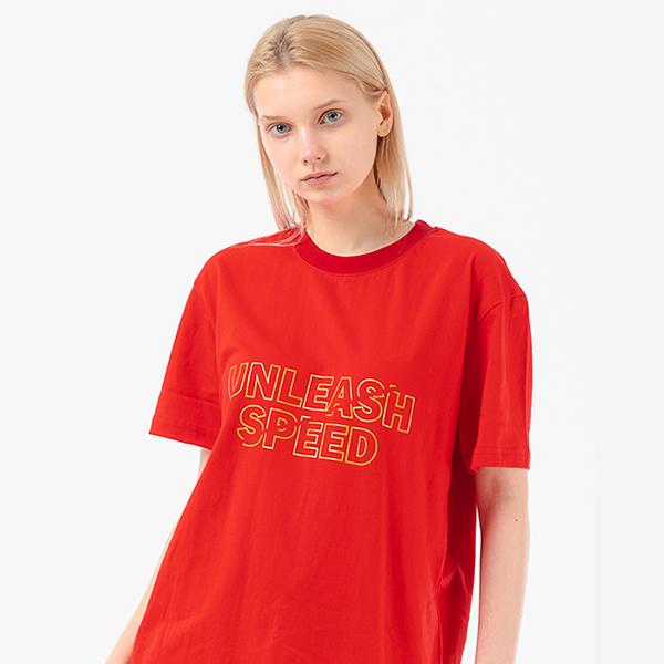 유니 UNI UNLASH TEE RED (T-047)
