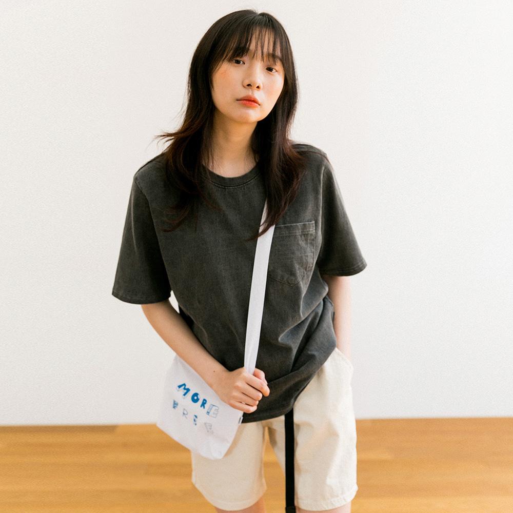 써머 마츠리 피그먼트 반팔 티셔츠 (CHARCOAL)