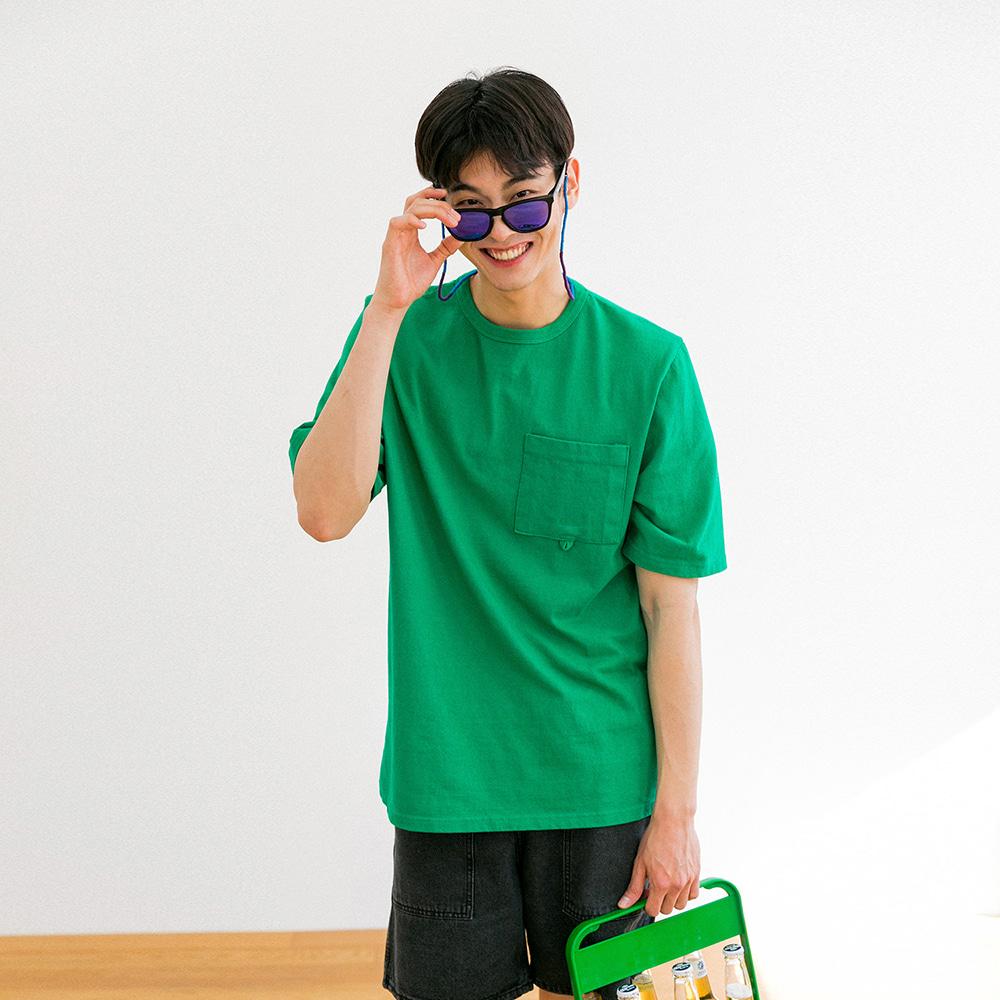 치쿠린 포켓 반팔 티셔츠 ver 2 (GREEN)