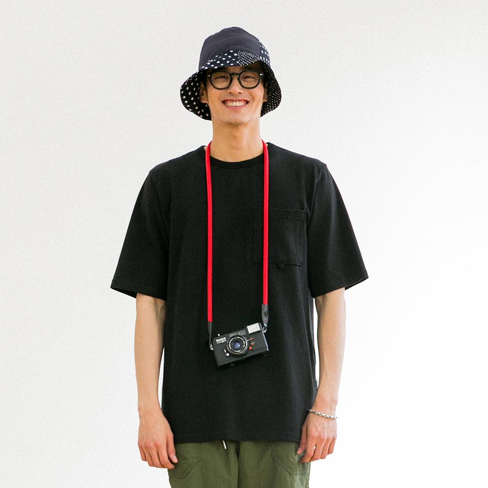 치쿠린 포켓 반팔 티셔츠 ver 2 (BLACK)