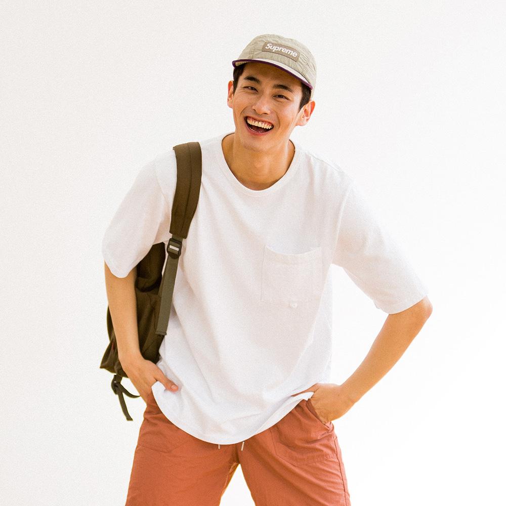 치쿠린 포켓 반팔 티셔츠 ver 2 (WHITE)