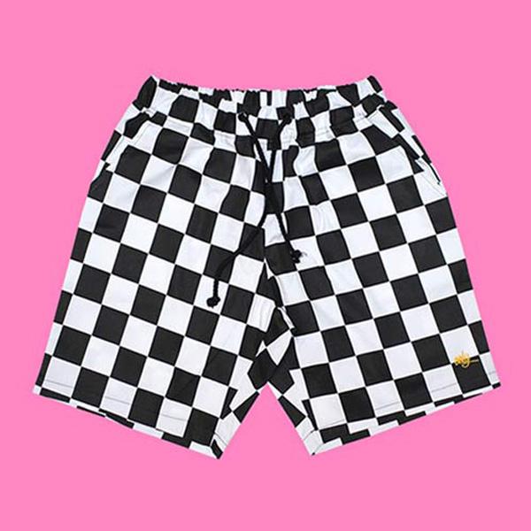 ROCKPSYCHO checker short pants- 락사이코 체커보드 숏팬츠