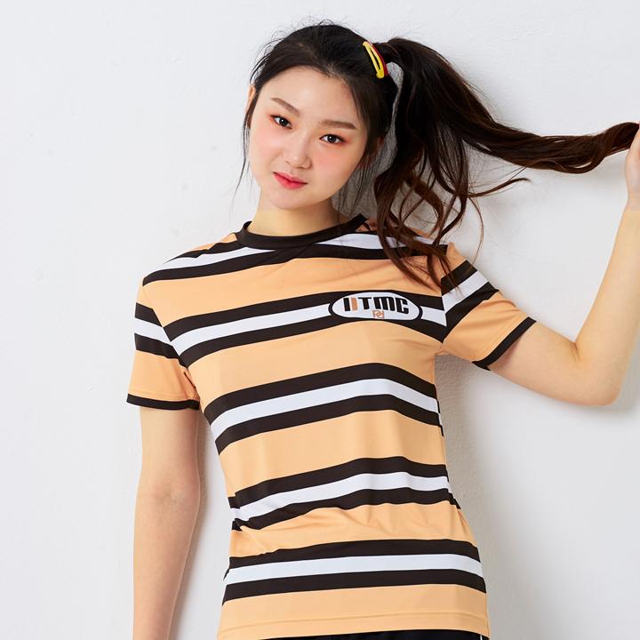 3 color stripe poly T (2color)