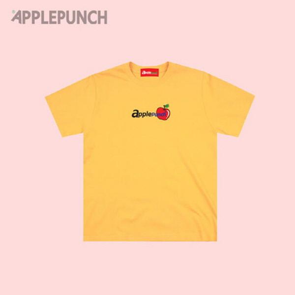 애플펀치 로고 반팔티셔츠 옐로우