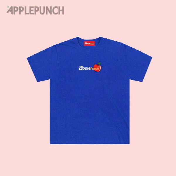 애플펀치 로고 반팔티셔츠 블루