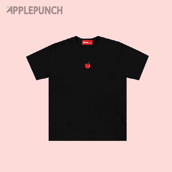 애플 포인트 로고 반팔티셔츠 블랙
