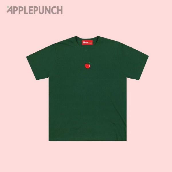 애플 포인트 로고 반팔티셔츠 그린
