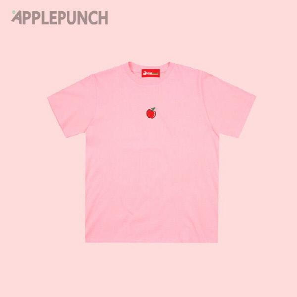애플 포인트 로고 반팔티셔츠 핑크