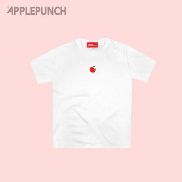 애플 포인트 로고 반팔티셔츠 화이트