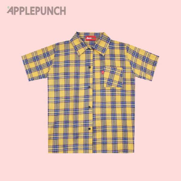 애플 체크 셔츠 옐로우