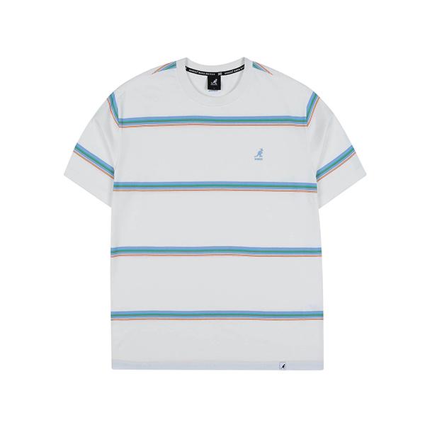 Multi Stripe Oversized T-Shirt 2588 WHITE