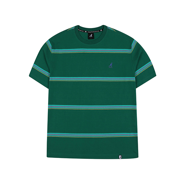 Multi Stripe Oversized T-Shirt 2588 GREEN