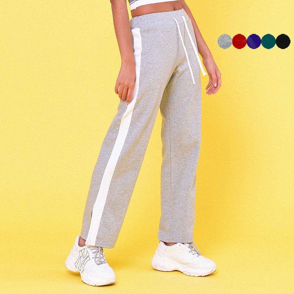 SIDE SLIT TRACK PANTS(5color)