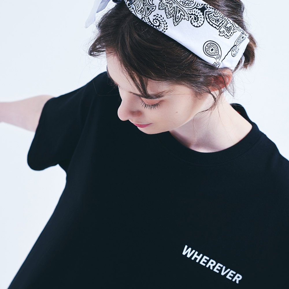[UNISEX]RN#9101웨어에버 오리지날 로고티 (BLACK)