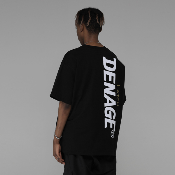 Side Big Logo Oversize T-shirt (Black)_0044