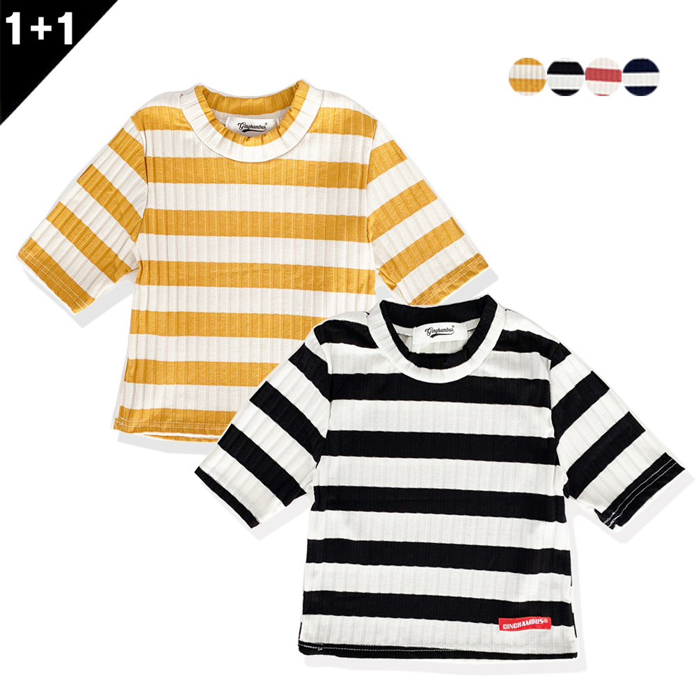[단독상품][1+1]GIRLS STRIPE CROP TOP+GIRLS STRIPE CROP TOP