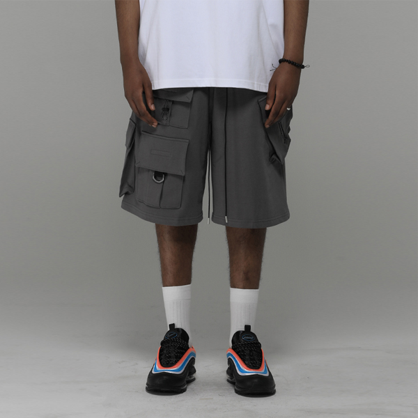 Focus Tech Wear Cargo Shorts (Grey)_0049