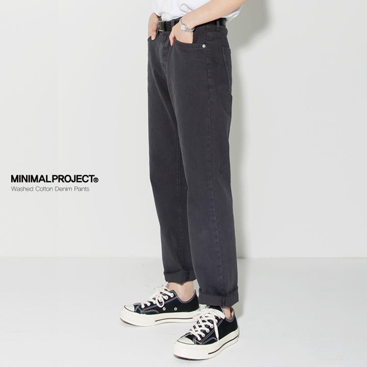 [minimal project] 미니멀프로젝트 (Unisex) 워시드 코튼 데님팬츠 MPT102DG