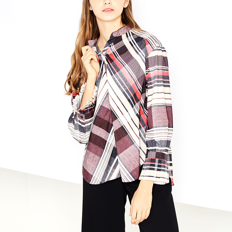 STRIPE PULLOVER BLOUSE