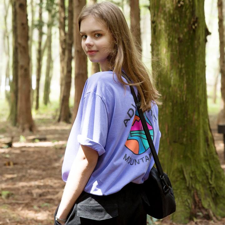 [단독할인] 플루크 서클 마운틴 아이콘 피그먼트 티셔츠 FST128 / 4color