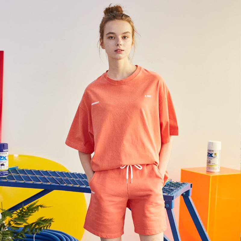 [단독할인][unisex] pigment short pants (orange)