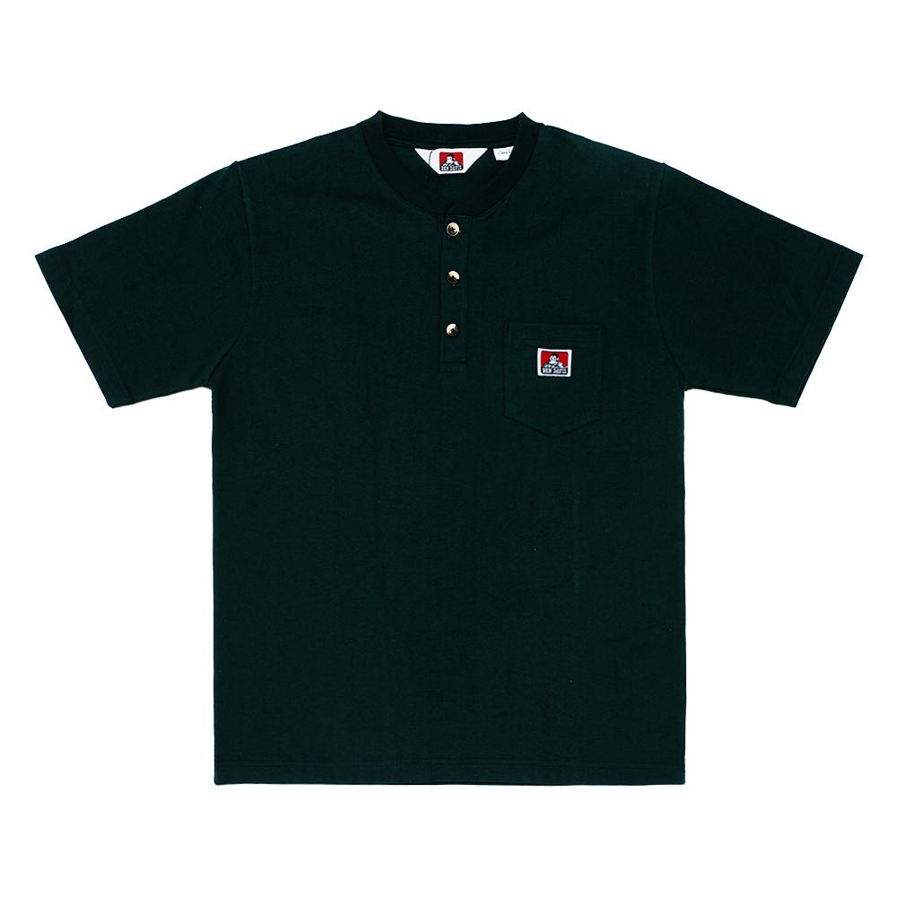 화이트라벨 헨리넥 포켓 티셔츠
