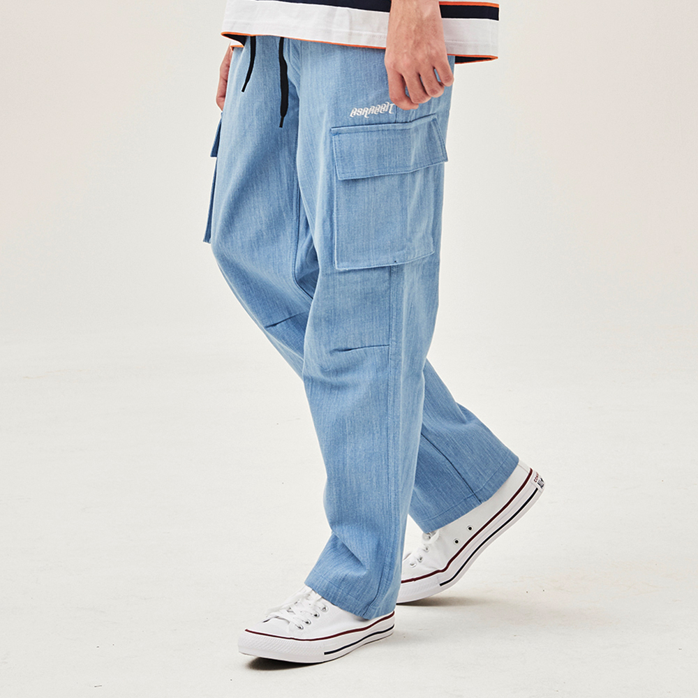 [비에스래빗] BSR CARGO TRACK PANTS DENIM