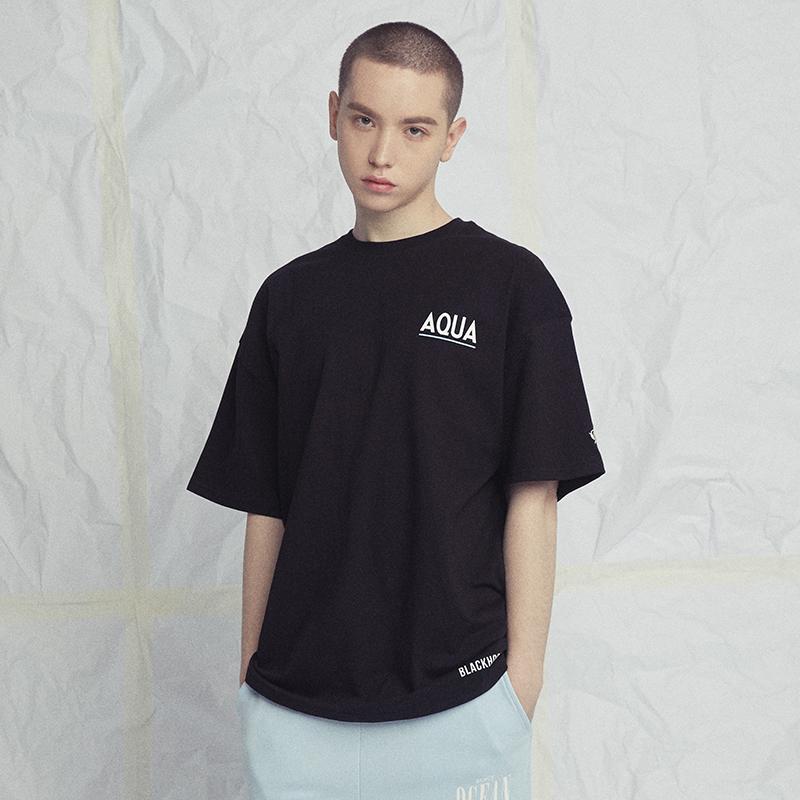 AQUA 1/2 TEE BLACK