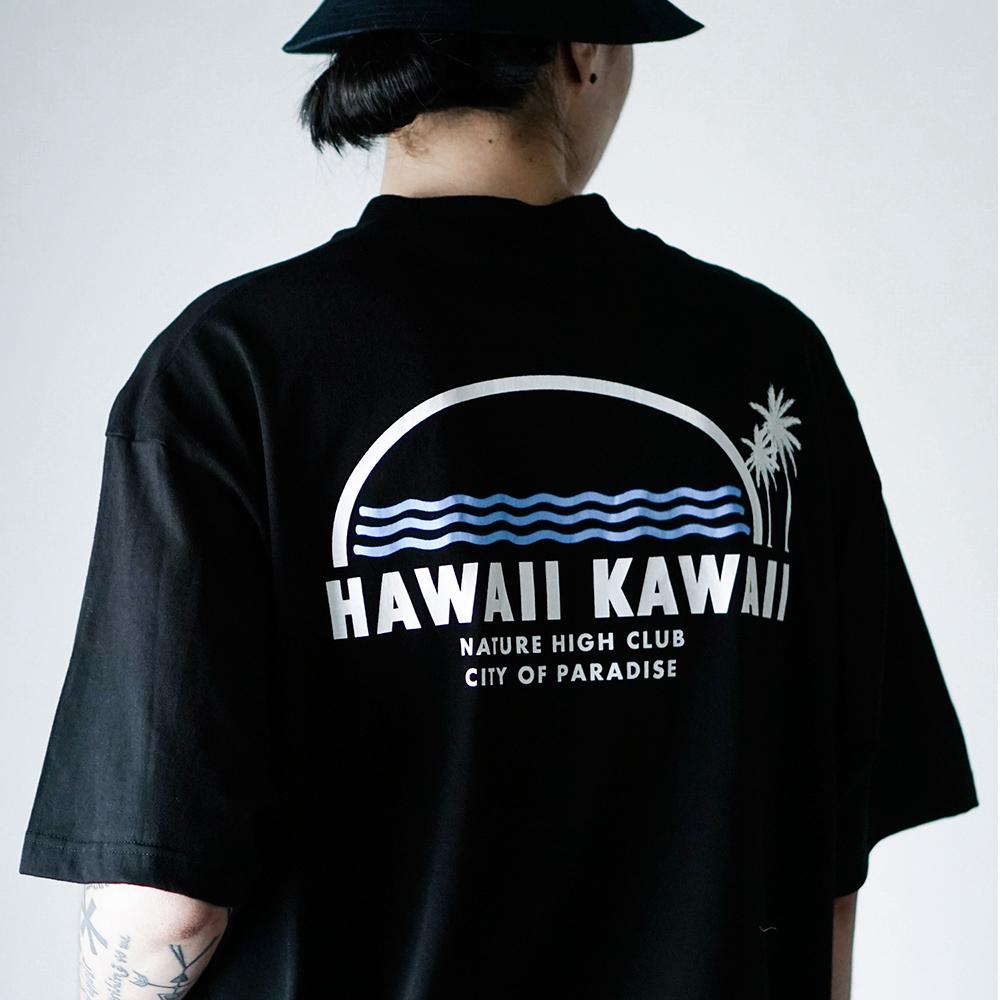 선셋 하와이 티셔츠 (블랙)