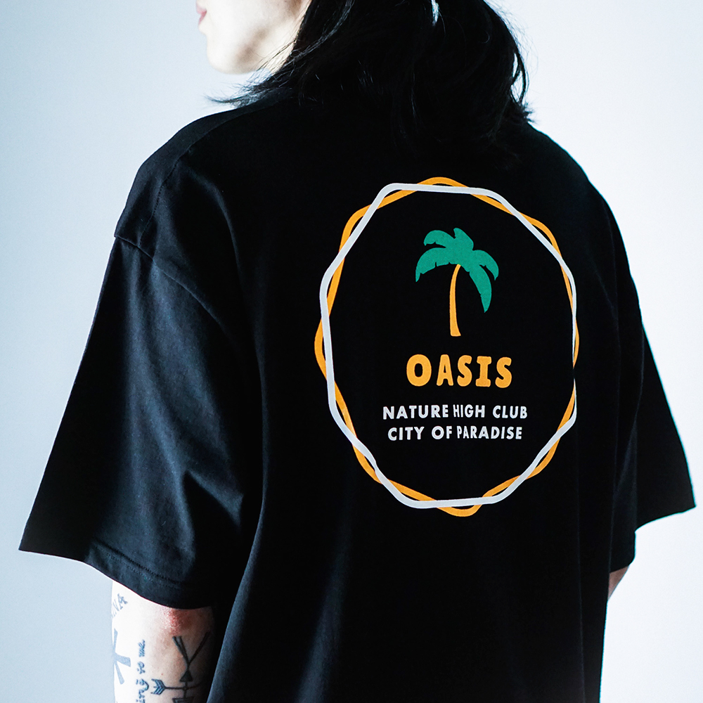 서클 오아시스 티셔츠 (블랙)