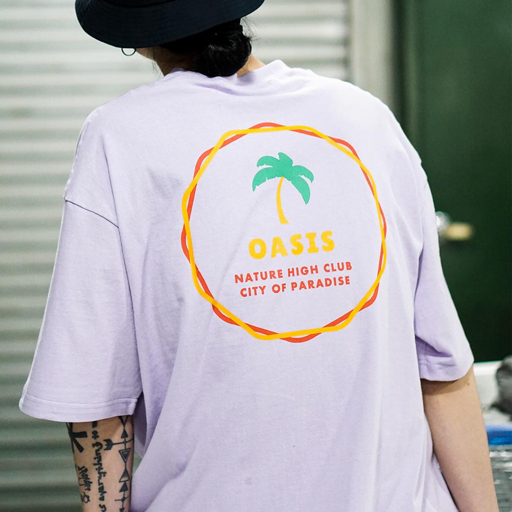 서클 오아시스 티셔츠 (연보라)