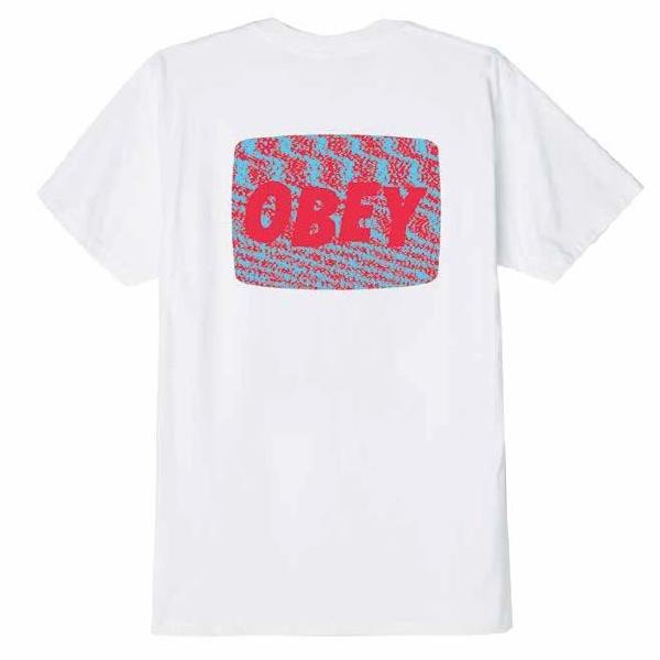 오베이 티셔츠 OBEY STATIC 163081987 WHITE